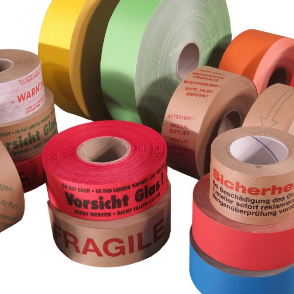 printed water activated tape water activated tape single sided